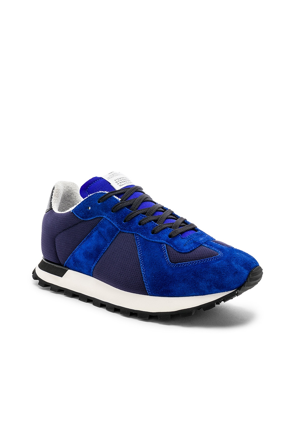 Image 1 of Maison Margiela Replica Runners in Navy & Electric Blue