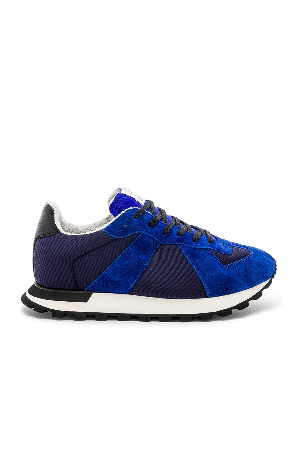 Image 2 of Maison Margiela Replica Runners in Navy & Electric Blue