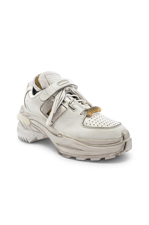 Image 1 of Maison Margiela Low Top Artisanal Sneaker in White