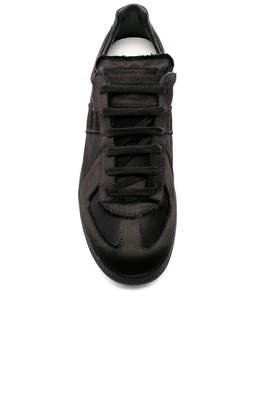 Image 4 of Maison Margiela Replica Low Top Sneakers in Black