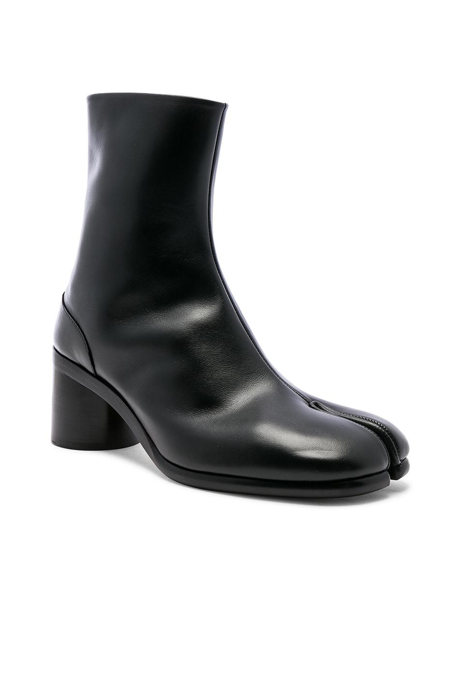 Image 1 of Maison Margiela Light Brushed Tabi Boot in Black