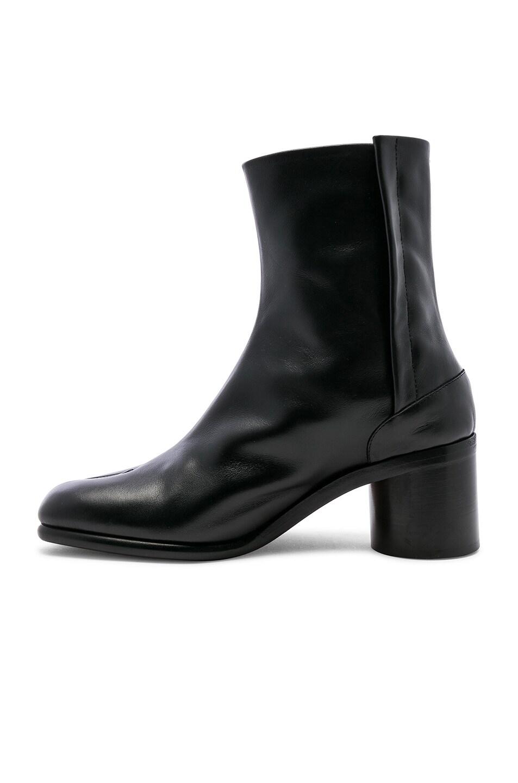 Image 5 of Maison Margiela Light Brushed Tabi Boot in Black