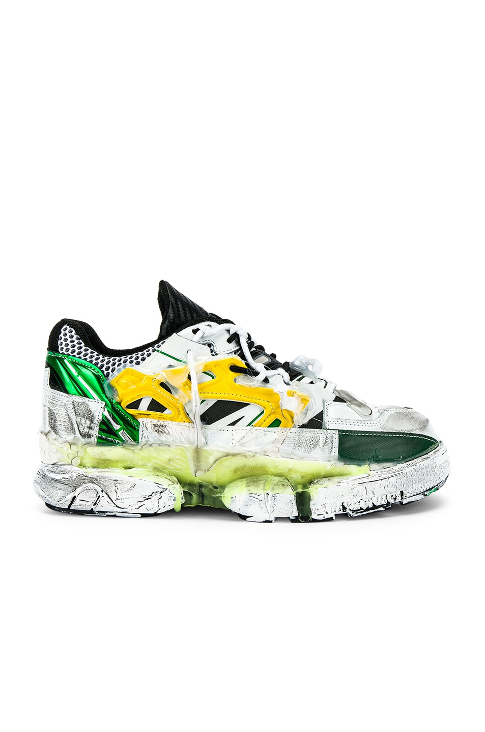 Image 2 of Maison Margiela Fusion Low Top in Yellow & Green