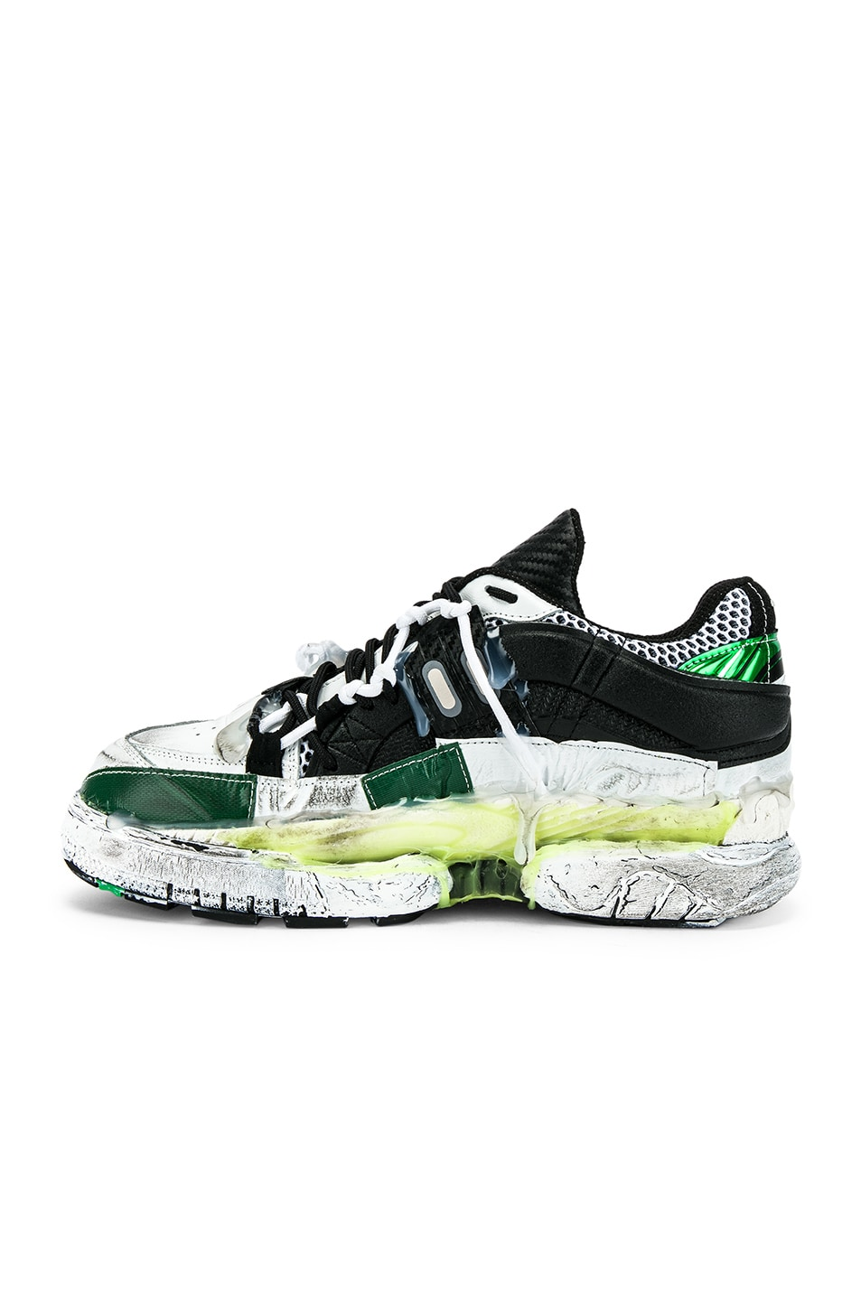 Image 5 of Maison Margiela Fusion Low Top in Yellow & Green
