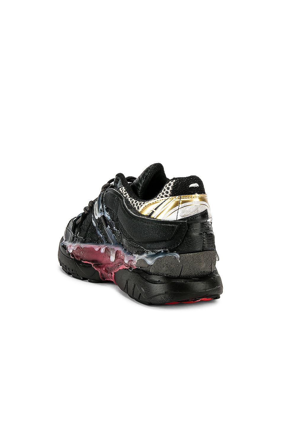 Image 3 of Maison Margiela Fusion Low Top in Black & Gold & Red