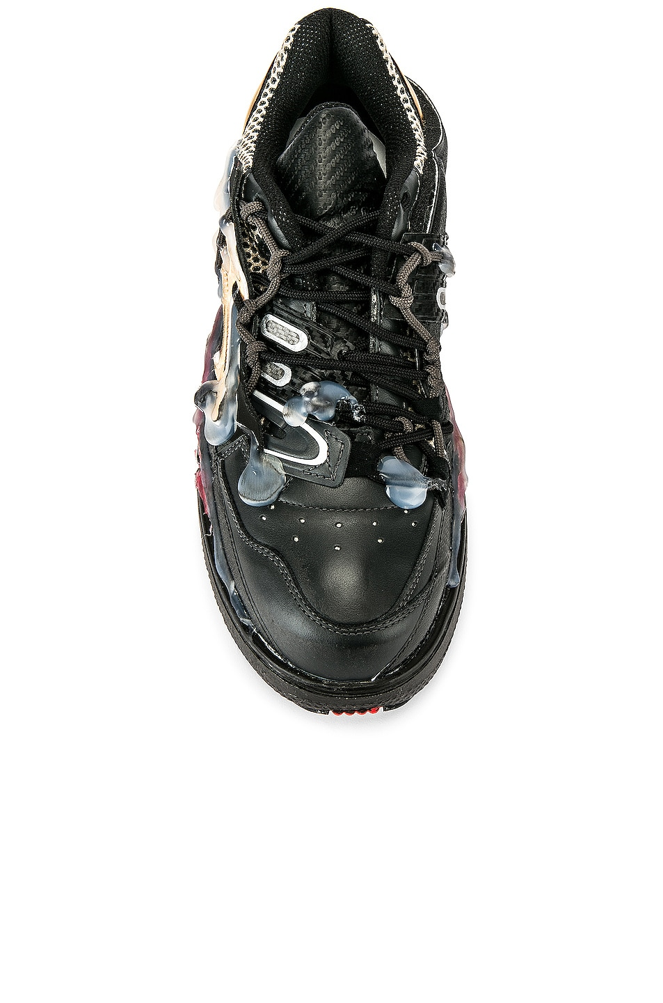Image 4 of Maison Margiela Fusion Low Top in Black & Gold & Red