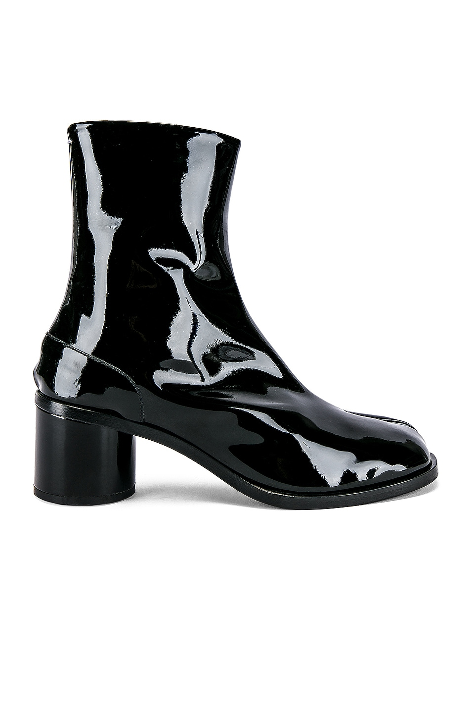 Image 2 of Maison Margiela Tabi Ankle in Black & Red
