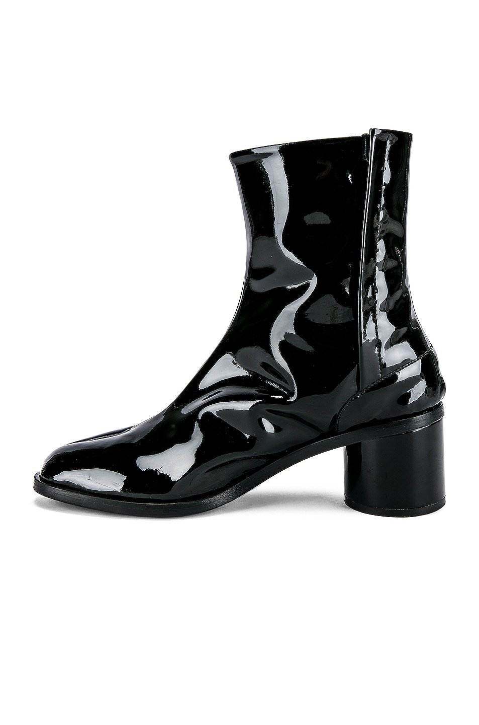 Image 5 of Maison Margiela Tabi Ankle in Black & Red