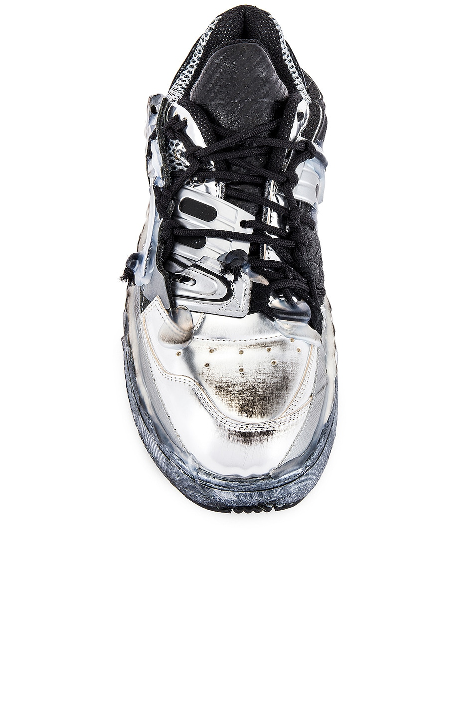 Image 4 of Maison Margiela Fusion Low Top in White & Black & Silver