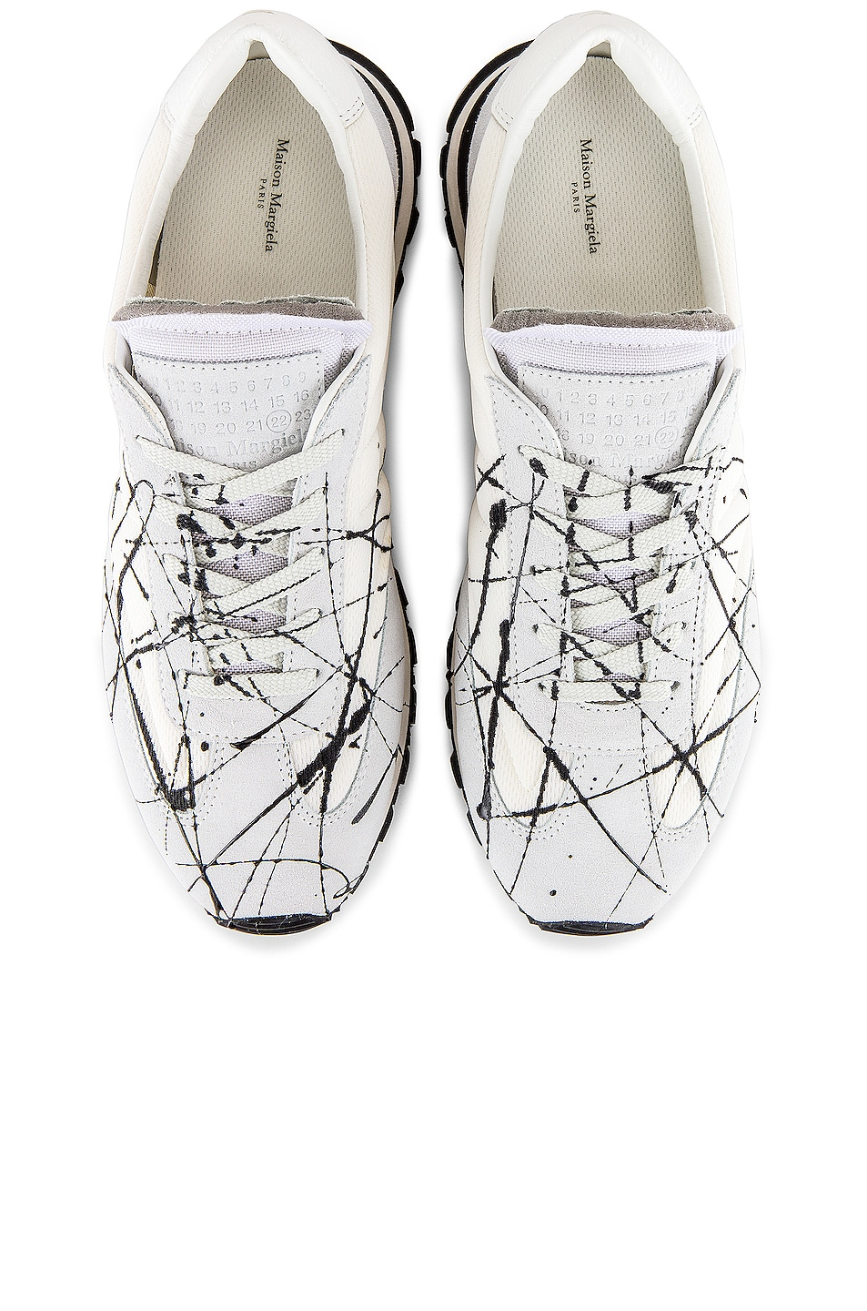 Image 4 of Maison Margiela Apertura Post in Off White & Black