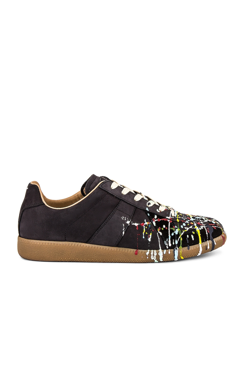 Image 1 of Maison Margiela Replica Sneakers in Black & Paint