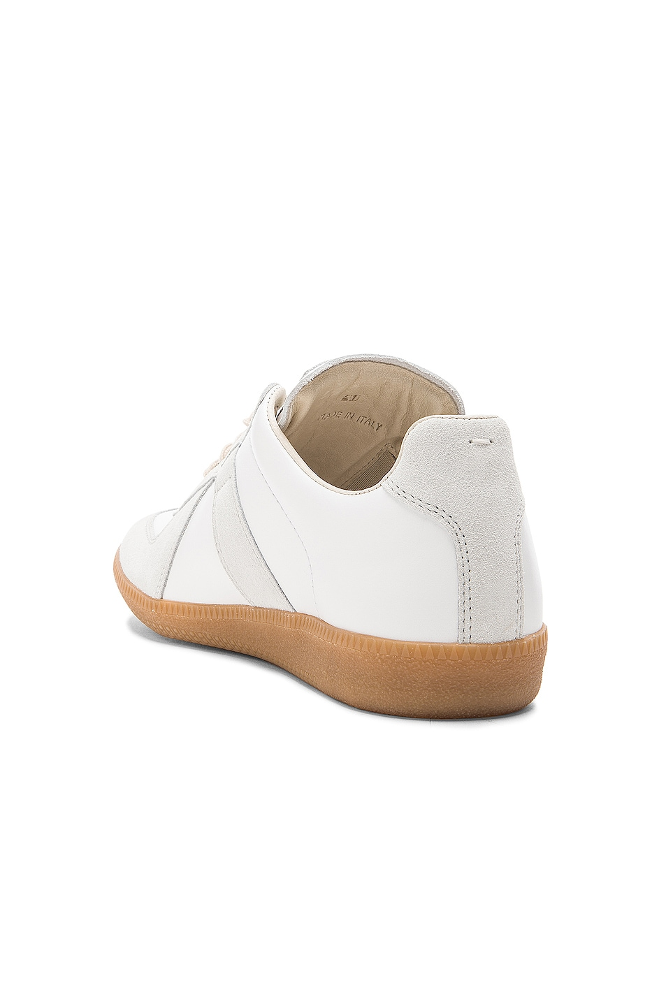 Image 3 of Maison Margiela Replica Calf & Lambskin Leather Sneakers in White