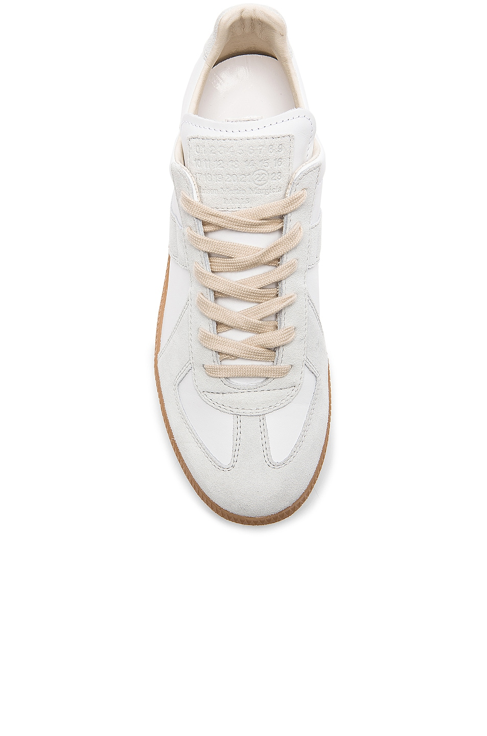 Image 4 of Maison Margiela Replica Calf & Lambskin Leather Sneakers in White