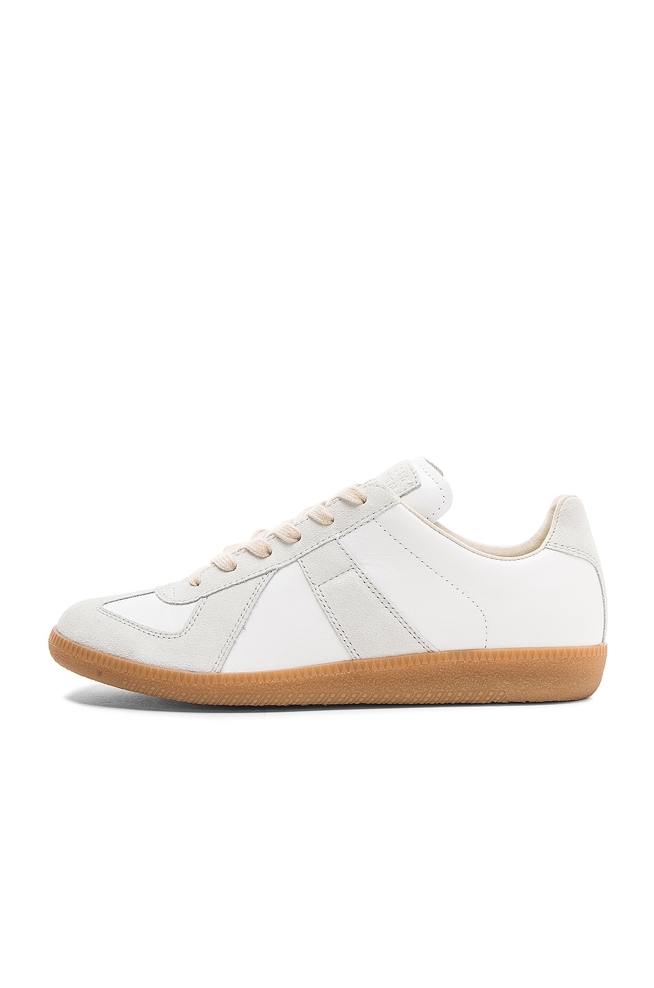 Image 5 of Maison Margiela Replica Calf & Lambskin Leather Sneakers in White