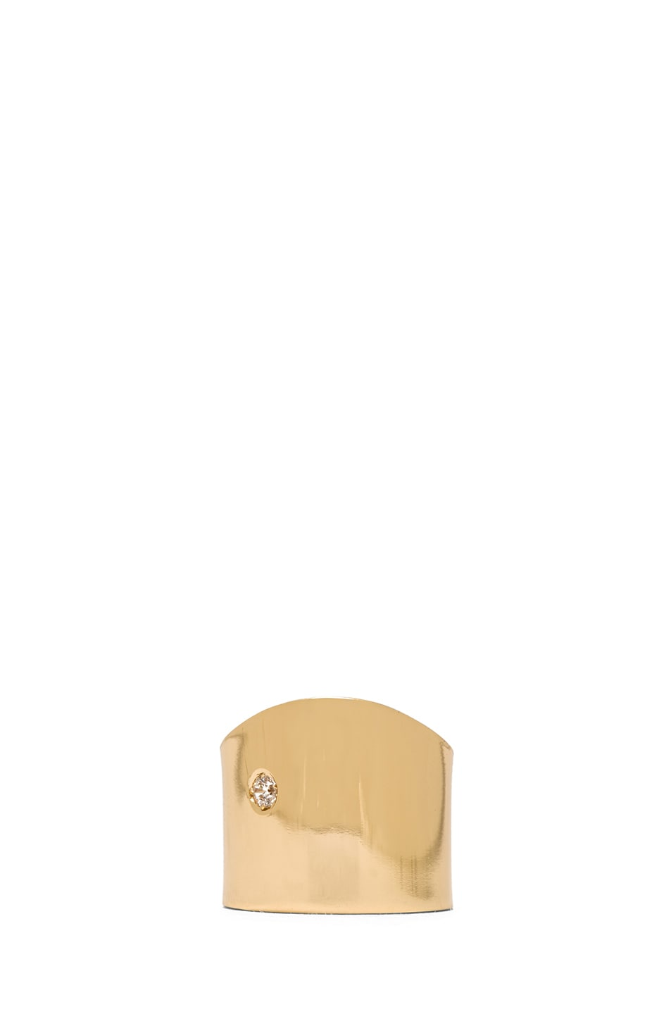 Image 1 of Maison Margiela Brass Pinky Ring in Gold