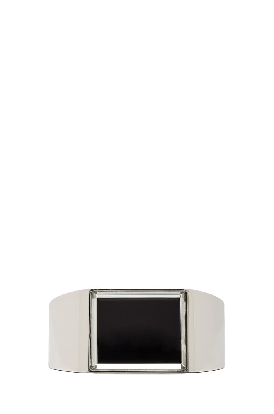 Image 1 of Maison Margiela Mirrored Brass Cuff in Silver