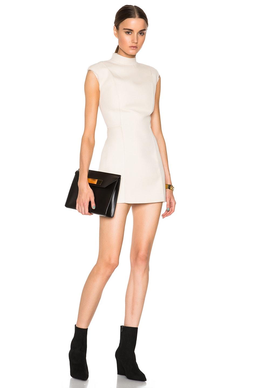 Image 1 of Maison Margiela Diagonal Wool Mini Dress in Cream