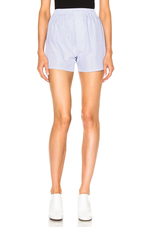Quality Free Shipping Outlet Cheap Footlocker Finishline Striped Cotton-poplin Shorts - White Maison Martin Margiela Outlet Store Cheap Online YpCwjzktNp