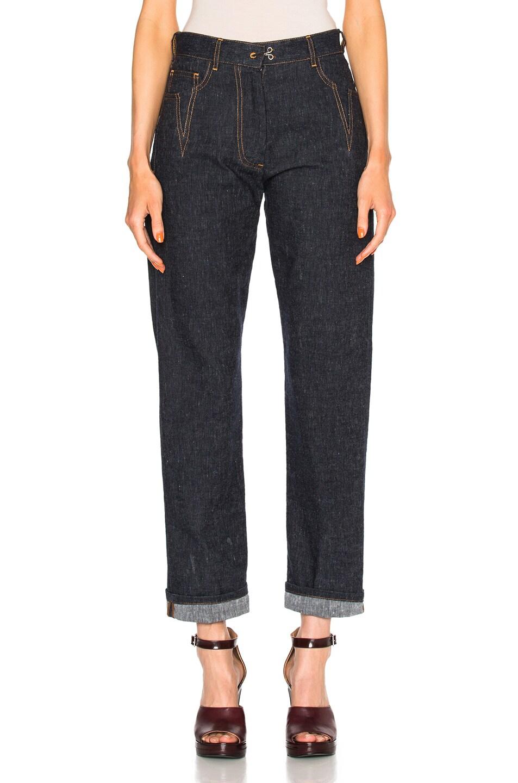 Image 1 of Maison Margiela Cotton Linen Denim Pants in Blue
