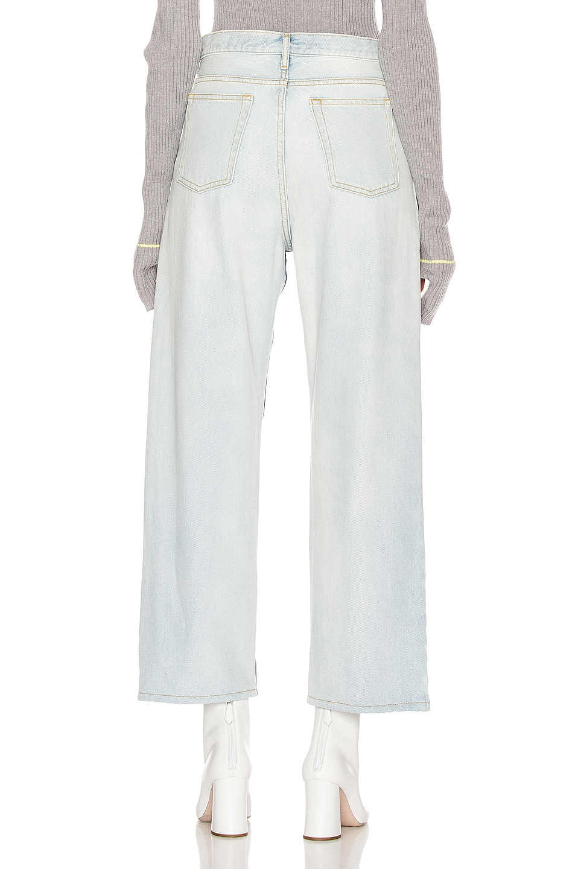 Image 4 of Maison Margiela Two Tone Wide Leg Jean in Blue Denim