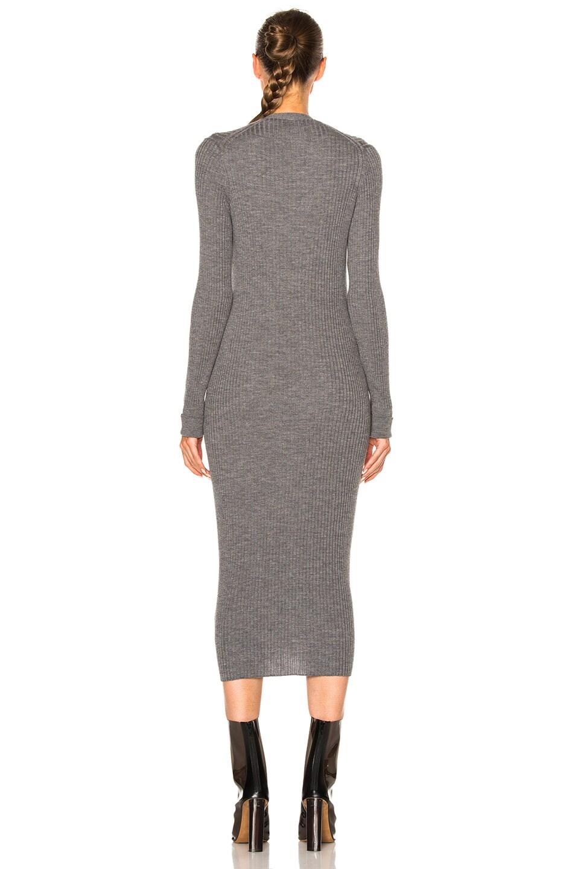 Image 4 of Maison Margiela Gauge Wool Rib Cardigan Dress in Grey Melange