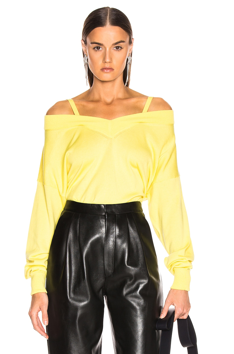 Image 1 of Maison Margiela Cutout Sweater in Yellow