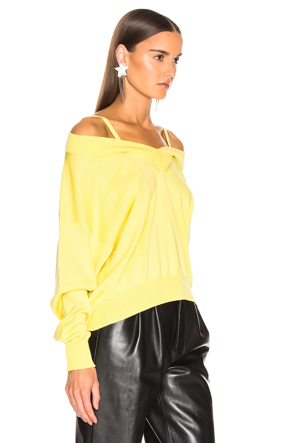 Image 2 of Maison Margiela Cutout Sweater in Yellow