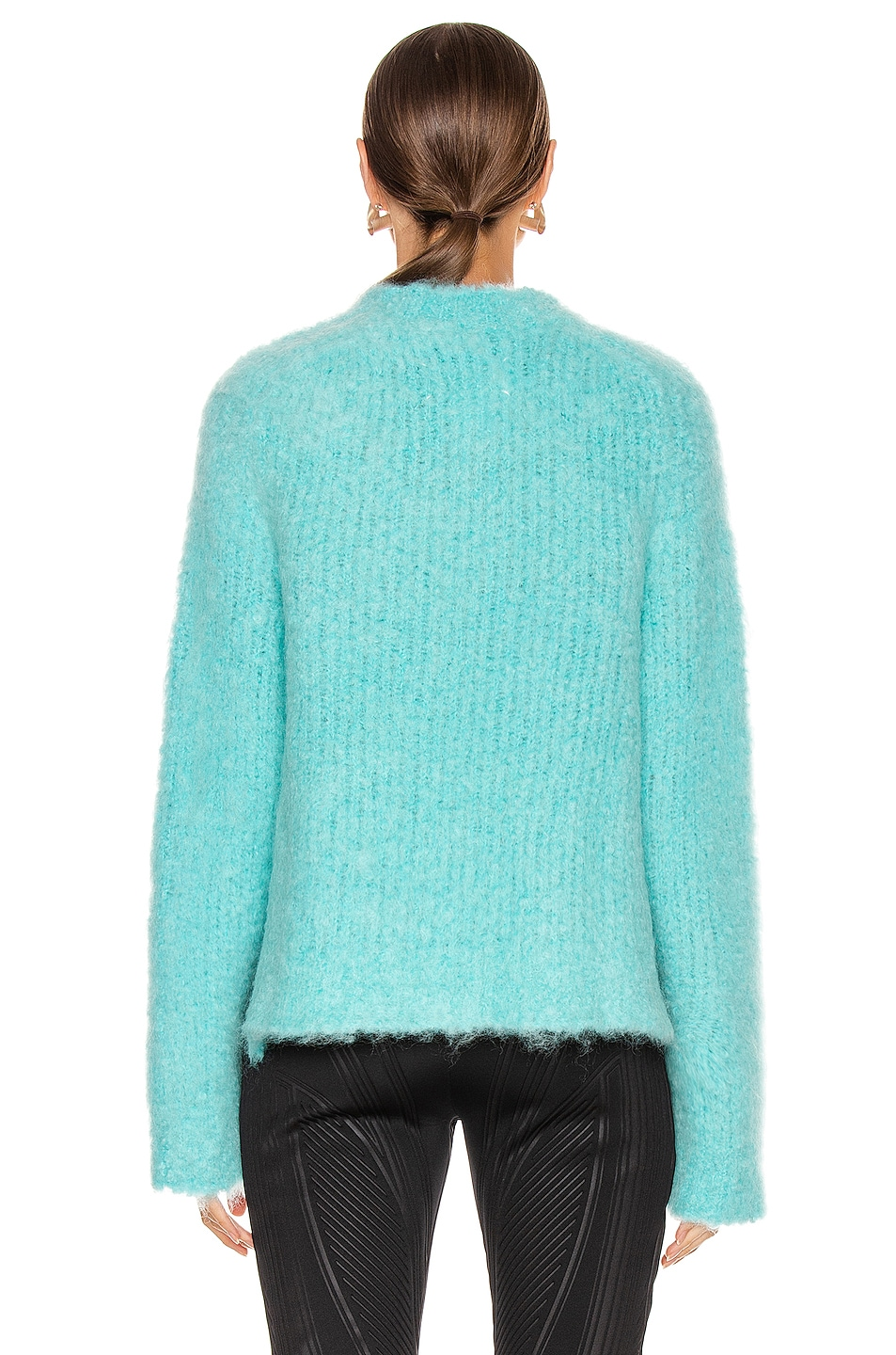 Image 3 of Maison Margiela Crewneck Mohair Sweater in Turquoise