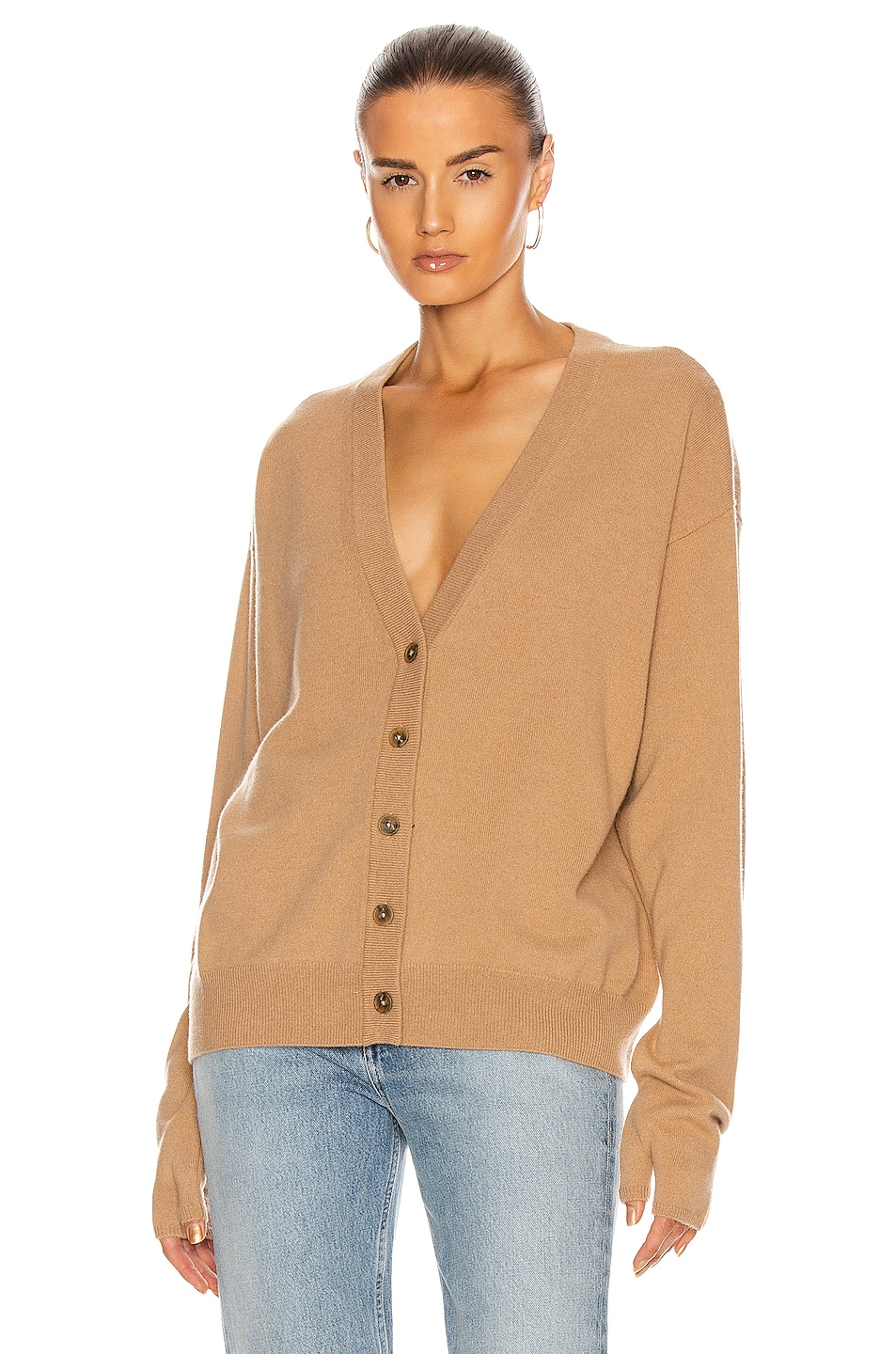 Image 1 of Maison Margiela Tabi Long Sleeve Cardigan in Camel