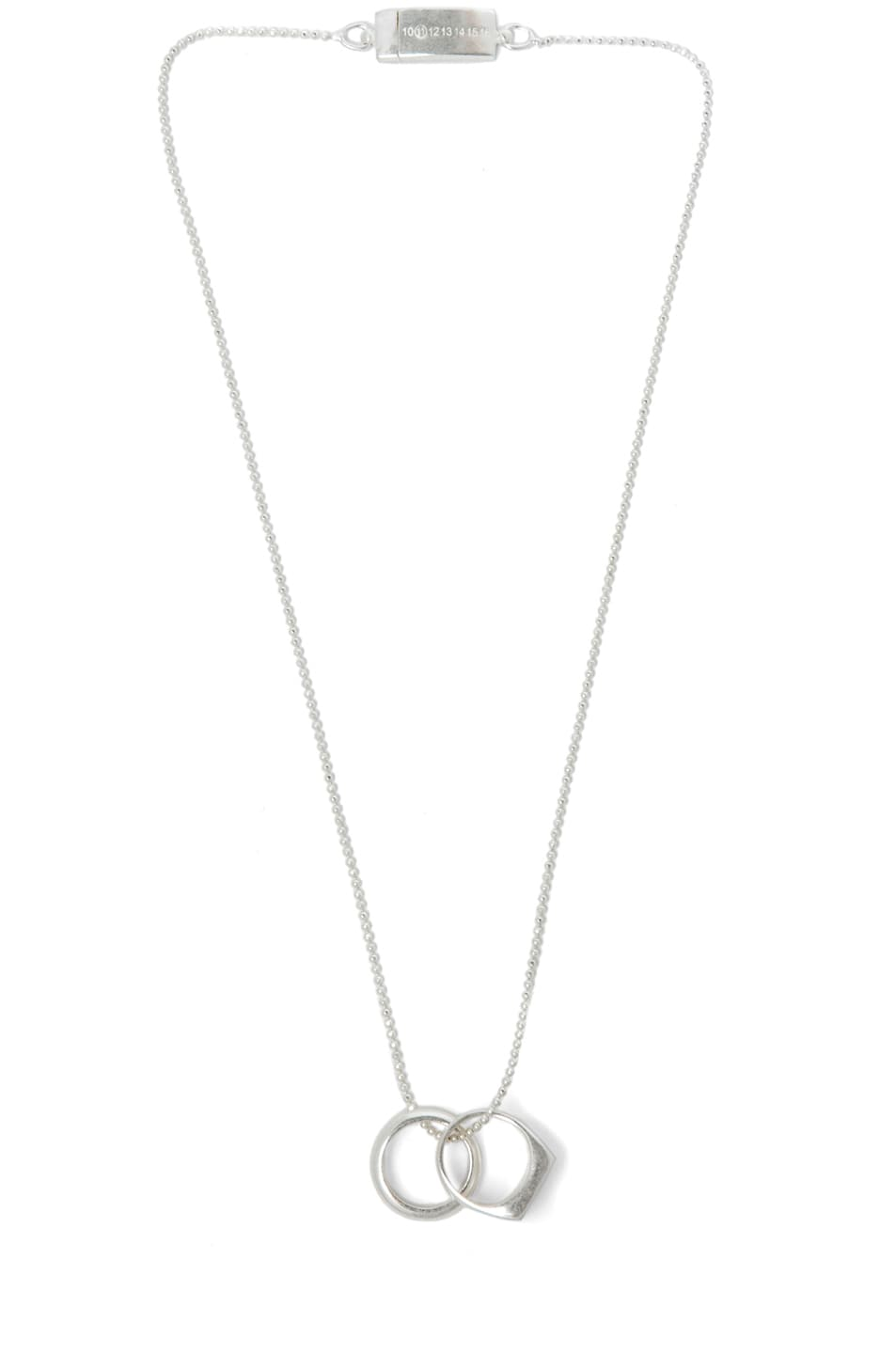 Image 1 of Maison Margiela Double Necklace/Rings in Silver