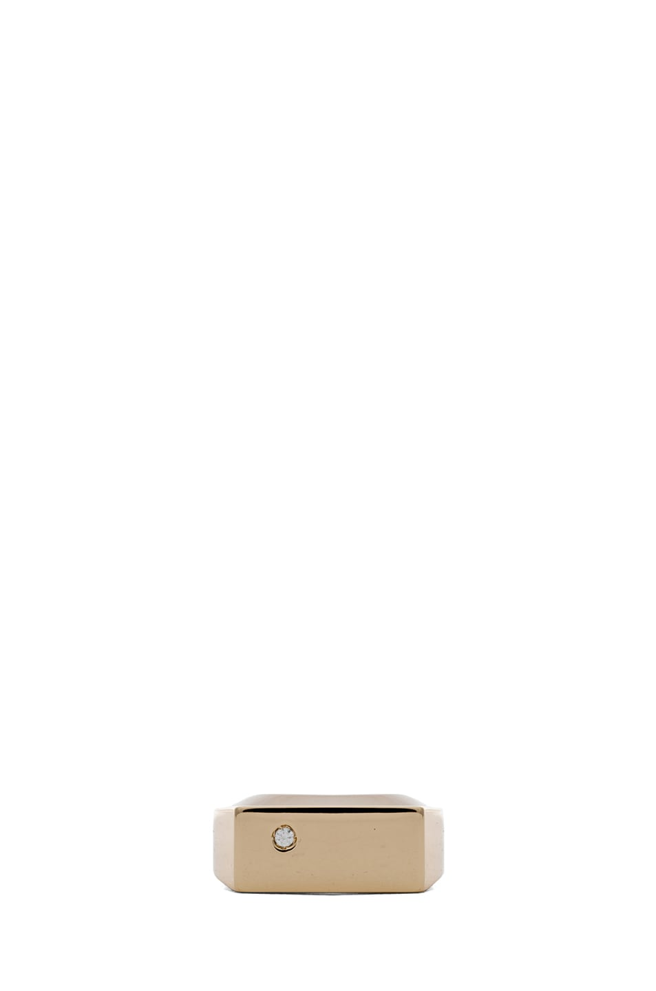 Image 1 of Maison Margiela Square Brass Ring in Gold