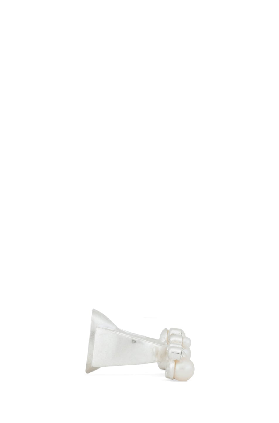 Image 2 of Maison Margiela Double Sided Double Finger Ring in Silver