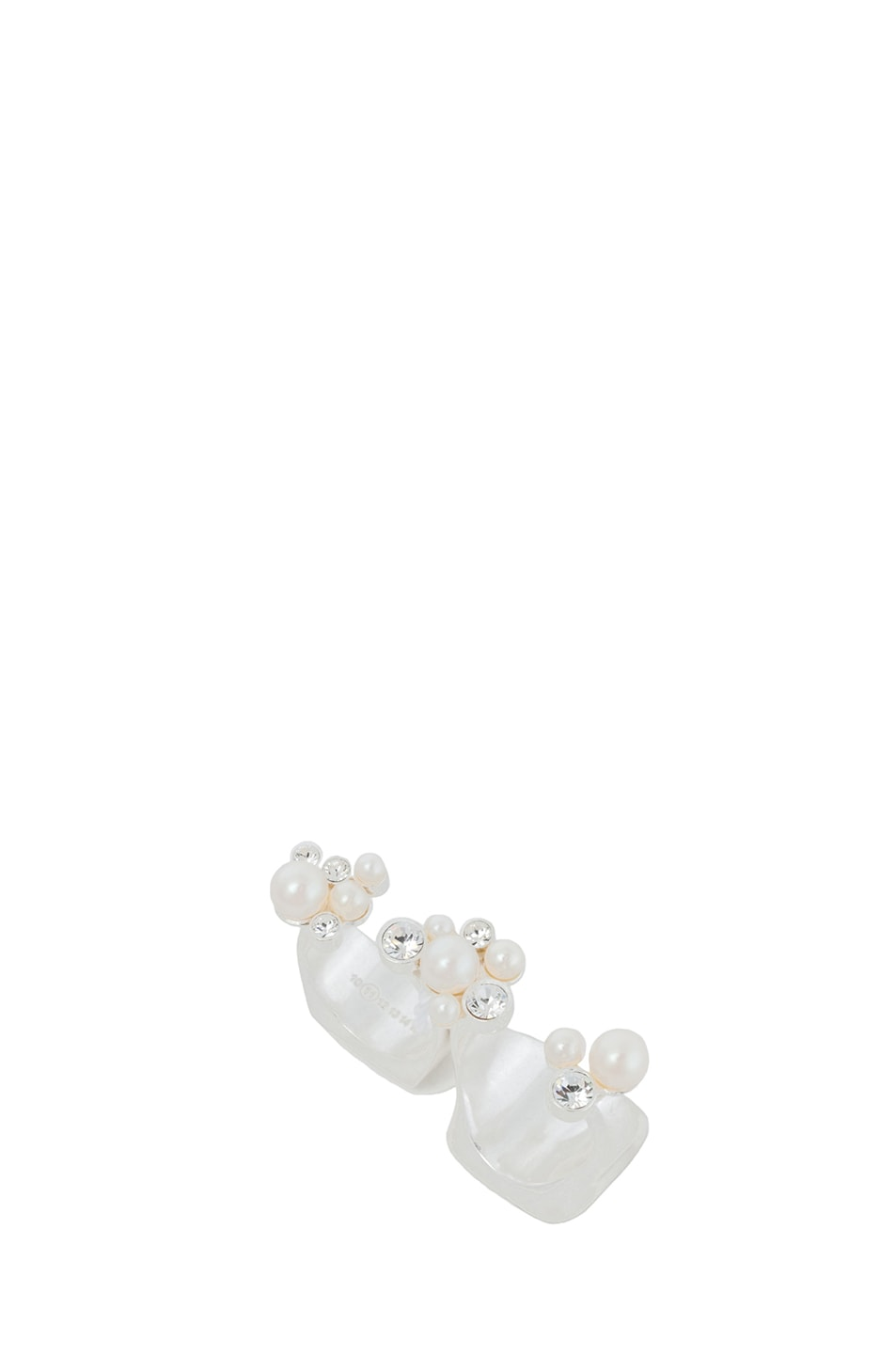 Image 4 of Maison Margiela Double Sided Double Finger Ring in Silver
