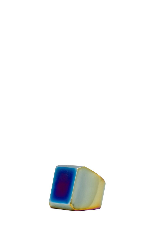Image 2 of Maison Margiela Large Hidden Gem Ring in Multi