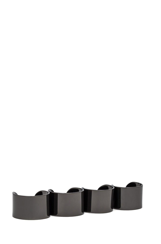 Image 1 of Maison Margiela Ring Set in Gunmetal