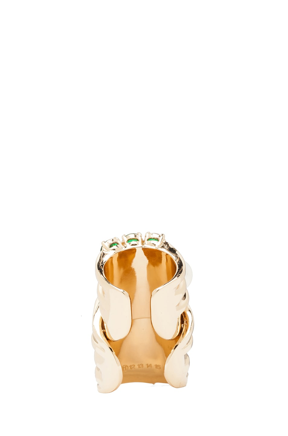 Image 4 of Maison Margiela Multi Stack Ring in Gold & Multicolor