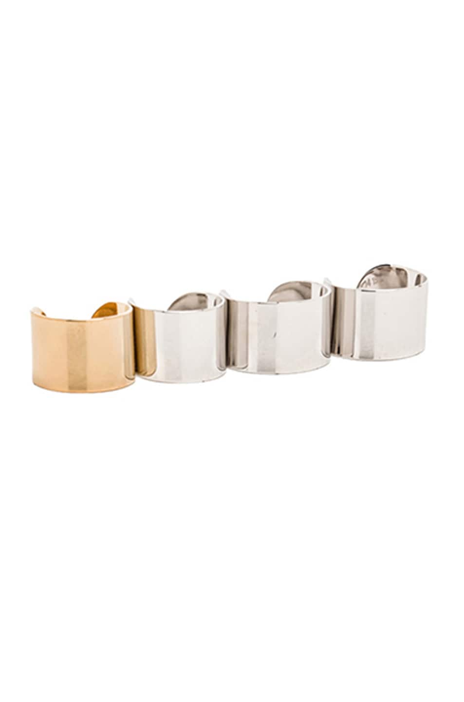 Image 1 of Maison Margiela 4 Finger Ring Set in Silver & Gold