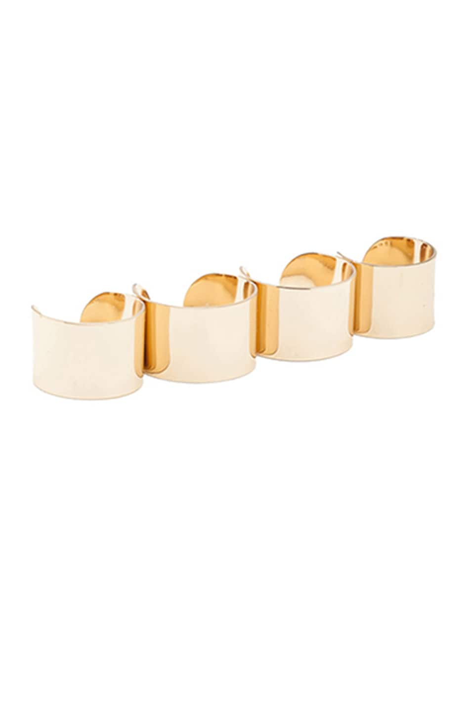 Image 1 of Maison Margiela Ring Set in Light Gold