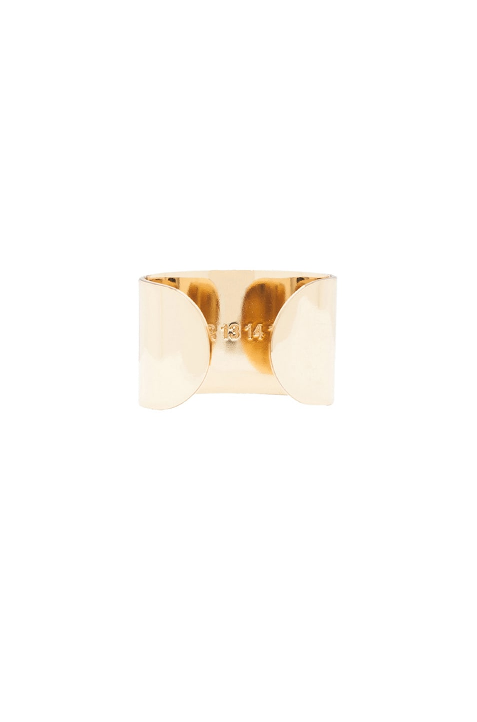 Image 4 of Maison Margiela Ring Set in Light Gold