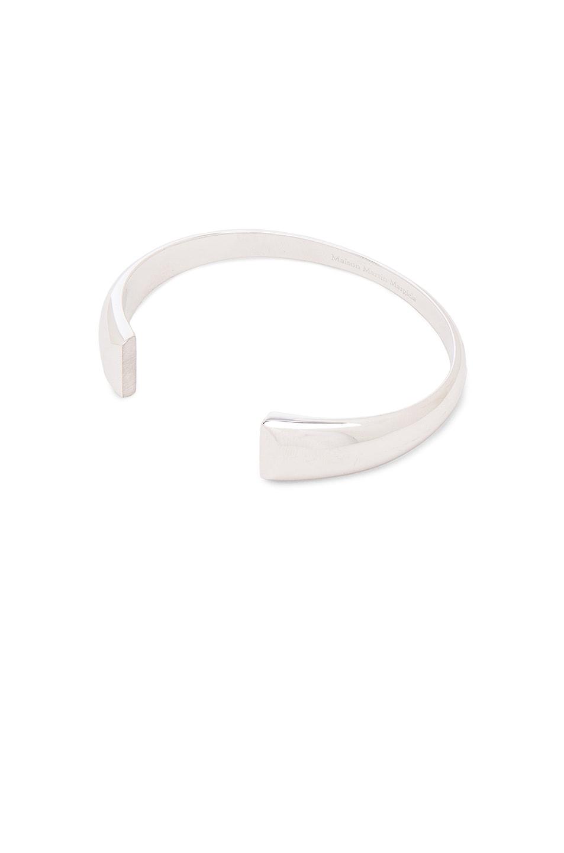Image 1 of Maison Margiela Fine Chevaliere Split Bracelet in Silver