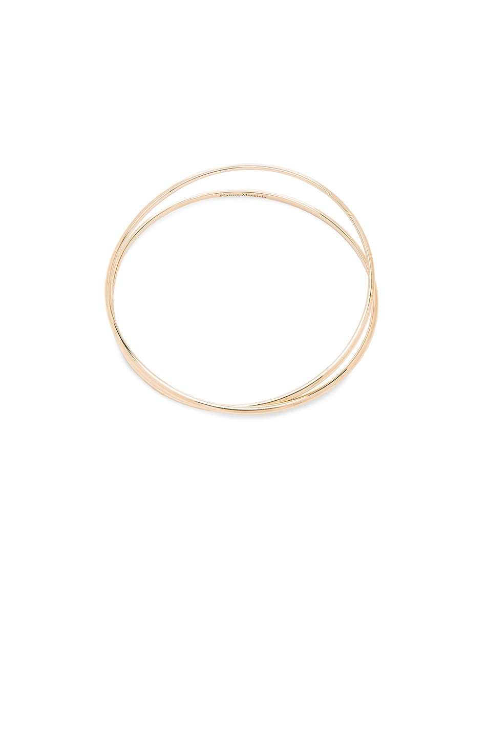Image 1 of Maison Margiela Fine Twisted Bracelet in 18k Yellow Gold