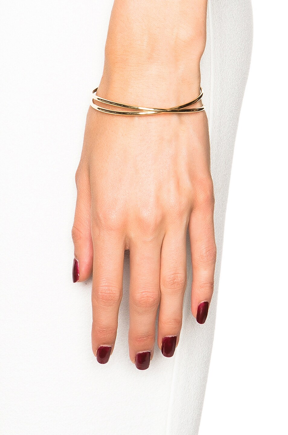 Image 2 of Maison Margiela Fine Twisted Bracelet in 18k Yellow Gold