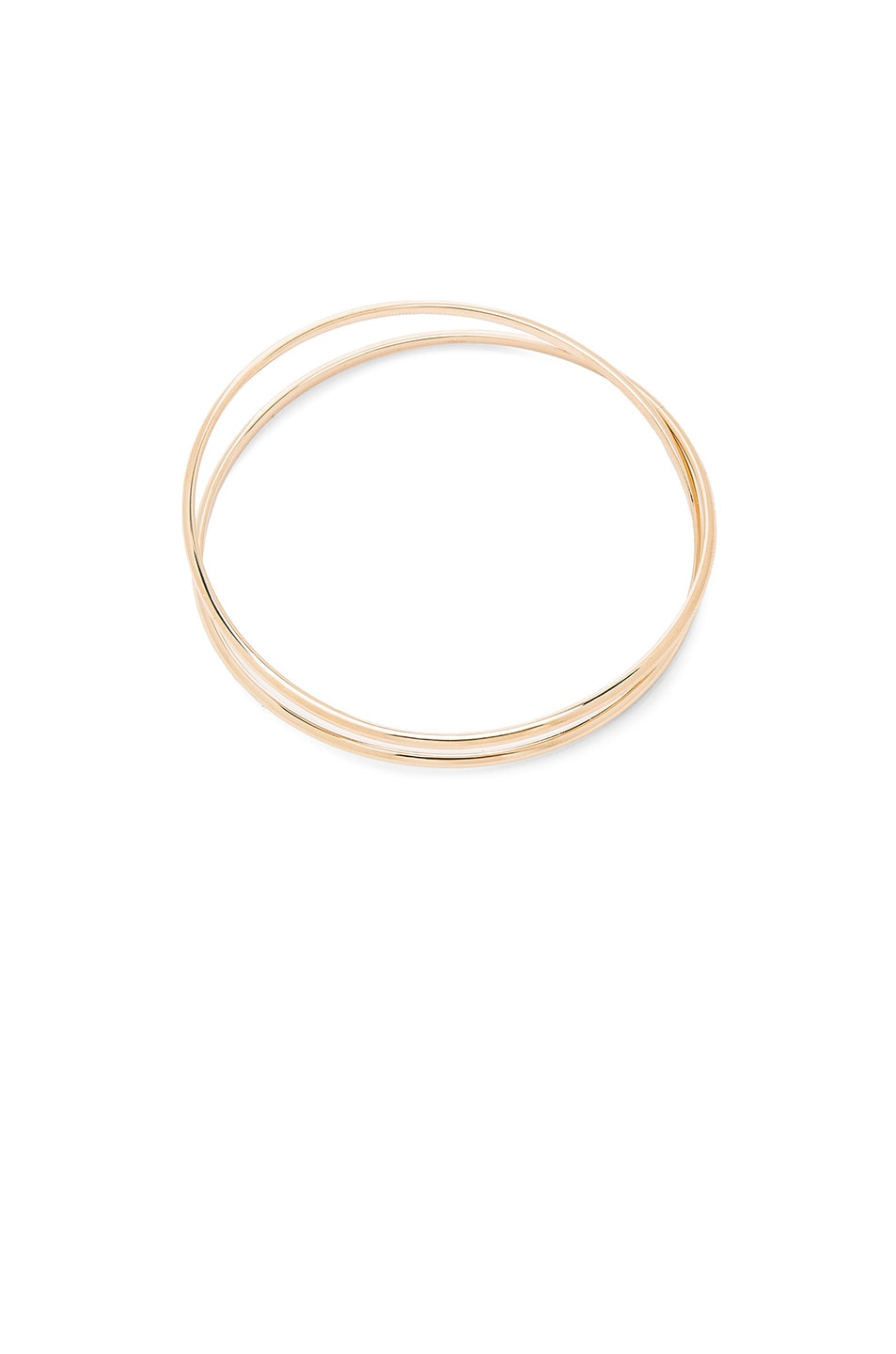 Image 3 of Maison Margiela Fine Twisted Bracelet in 18k Yellow Gold