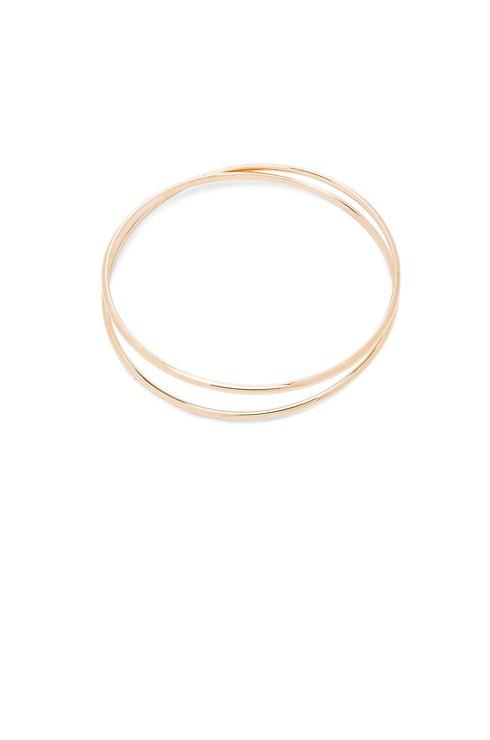 Image 4 of Maison Margiela Fine Twisted Bracelet in 18k Yellow Gold