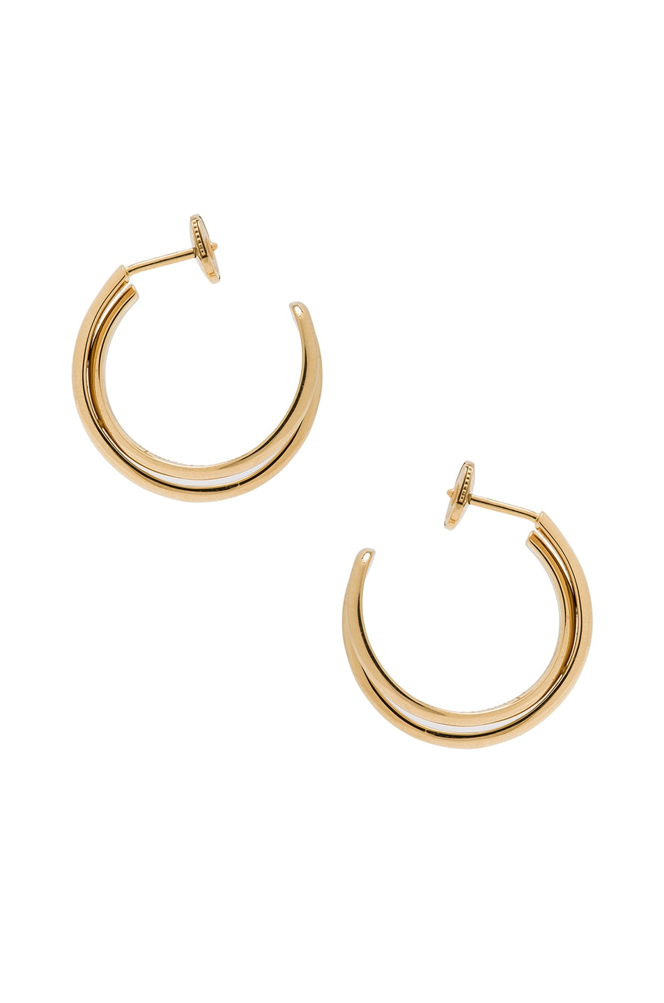 Image 1 of Maison Margiela Fine Twisted Earrings in 18k Yellow Gold