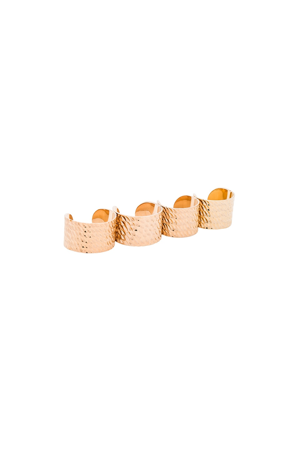 Image 1 of Maison Margiela Textured Ring Set in Gold