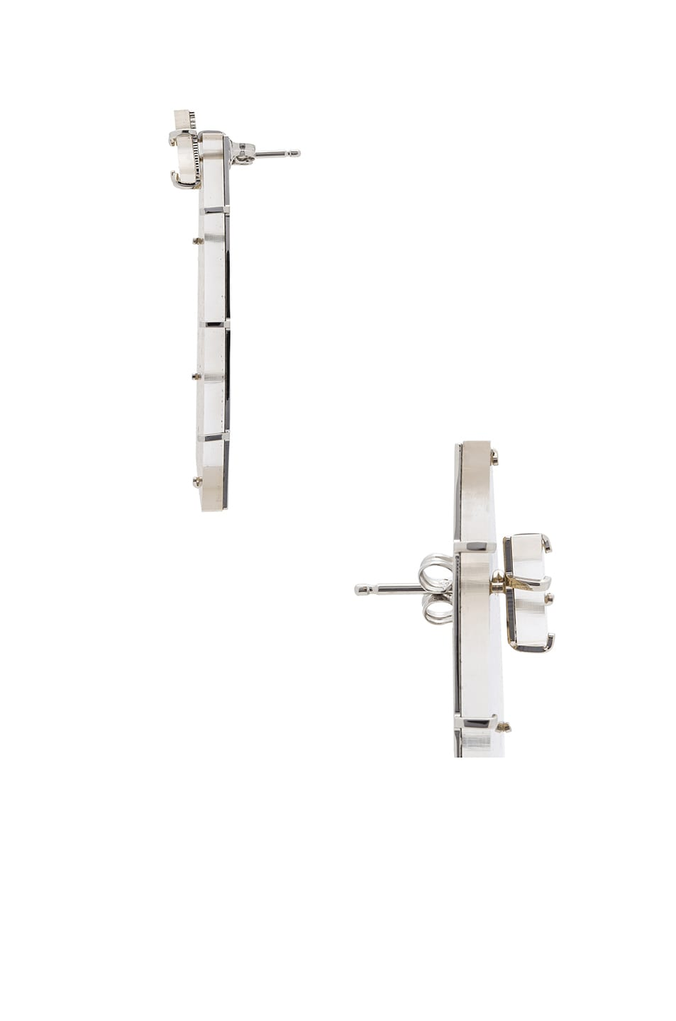 Image 2 of Maison Margiela Earrings in Rhodium