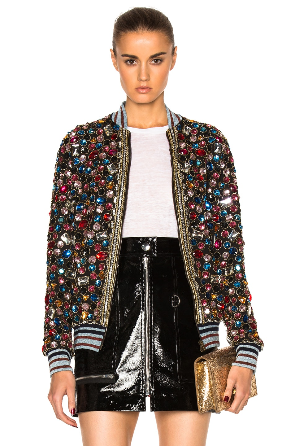 Image 1 of Maison Margiela Embroidered Bomber Jacket in Multi