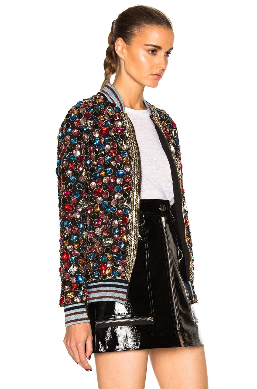 Image 4 of Maison Margiela Embroidered Bomber Jacket in Multi