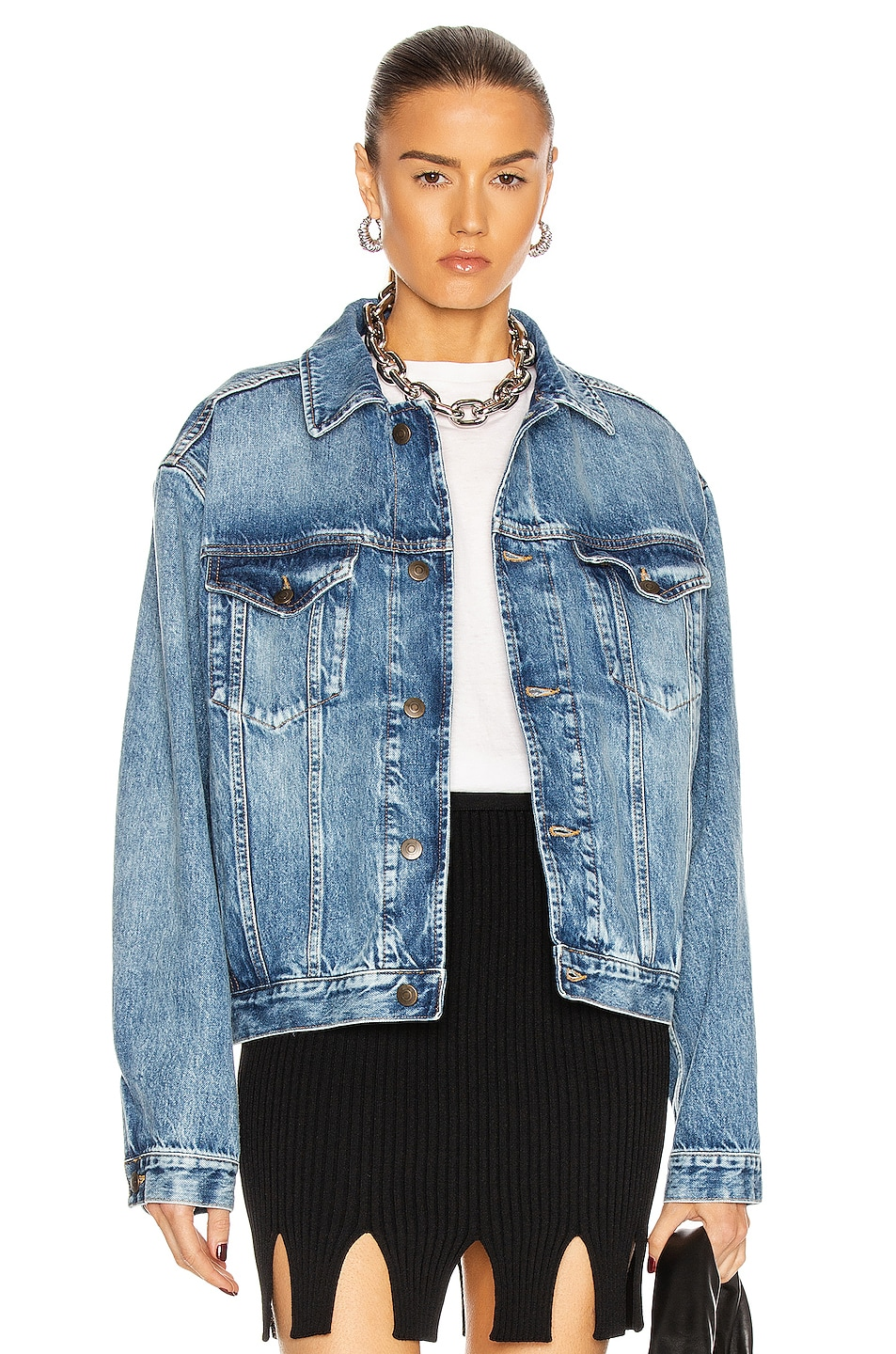 Image 1 of Maison Margiela Sport Denim Jacket in Blue Denim Recycled
